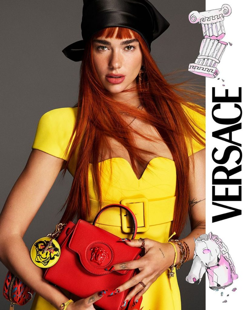 Dua Lipa Became New Official Gen Z Versace Muse | Slay in First Campaign